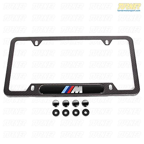BMW Carbon Fiber Look License Plate Frame with M Logo (Bmw M Sport License Plate Frame compare prices)