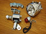 Bicycle Motorized Bike Friction generator Headlight Tail Light Kit 12V 6W LT36 Picture