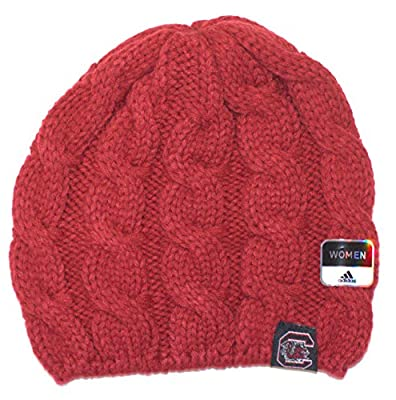 NCAA Offically Licensed South Carolina Gamecocks Women's Cable Knit Beanie Hat