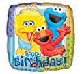 "Sesame Street Happy Birthday 18"" Mylar Balloon 3pk"