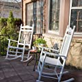 Pair of Dixie Seating Indoor/Outdoor Spindle Rocking Chairs - White by Dixie Seating Co