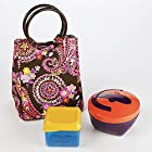 Kids' Lauren Lunch Bag Kit with Meal Container and Dip N Dunk (Spring Paisley)