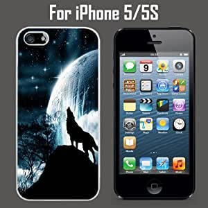 Amazon.com: Wolf Howling Under Bright Moon Custom Case/ Cover/Skin