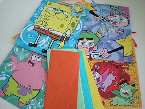 Spongebob Squarepants and Fairly Oddparents Gift Bags and Tags