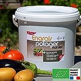 Agro Sens - Engrais biologique potager. Formule concentrée tous légumes. 8 Kg.
