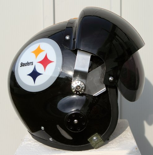 Pittsburgh Steelers Fighter Pilot Helmet - NFL Football USAF Air Force - Motorcycle S M L XL at Amazon.com