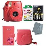 Fujifilm Instax Mini 8 Instant Film Camera 6 Pack Bundle (Raspberry)
