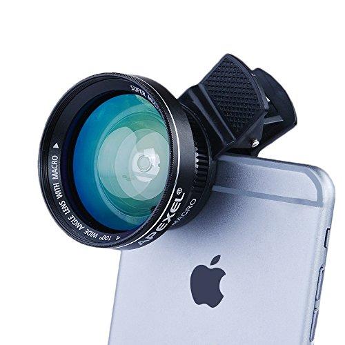 Apexel Universale per Fotocamera Professionale HD, per iPhone 6/6 Plus,6s/6s Plus, 5s cellulare, lenti Super grandangolo 0.63 x, 12,5 x Super Macro