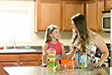 Miranda Measuring Cups 3 Piece Plastic Cup Set - Nesting and Stackable: 1 Cup, 2 Cup, and 1 Quart Sizes. Best for Cooking and Baking, with Easy Grip Silicone Handles. Makes A Great Gift!