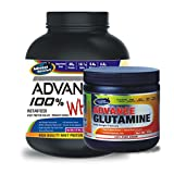 Advance Glutamine 300gm Unflavoured& ADVANCE 100% WHEY 25gm Protein Per 33gm 2kg Vanilla (Combo Offer)