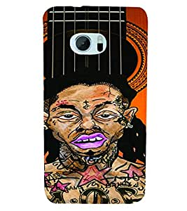 PrintVisa Music Guitar Rap 3D Hard Polycarbonate Designer Back Case Cover for HTC One M10
