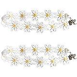 Retro Boho Daisy Flower Choker Chain Hippie Chick Lace Necklace Delicate Yellow & White