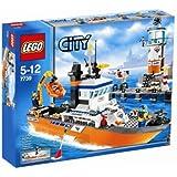 Lego - 7739 - Jeu de construction - LEGO City - Le bateau et la tour de contrôle des garde-côtes