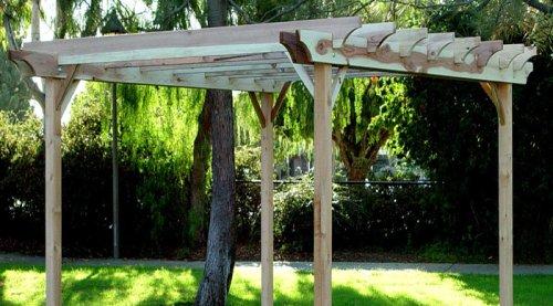 pergola plans redwood