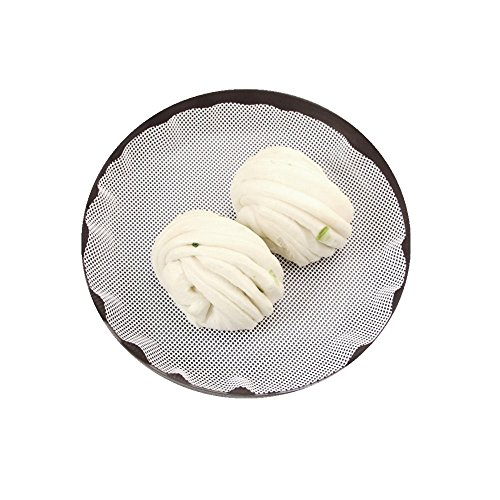 NISSING 6Pcs Non-Stick Round Dumplings Mat/Silicone Steamer Mesh/Pad (white)