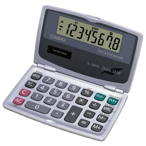 Casio Sl 100l Solar Calculator Folding