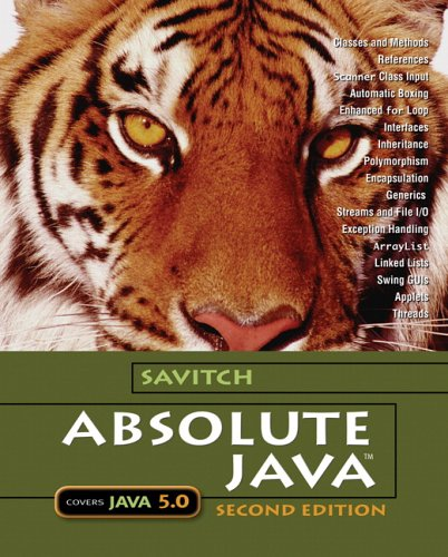 Absolute Java with Student Resource Disk (2nd Edition)
