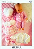 Sirdar Bonus DK Doll Clothes Knitting Pattern 3072