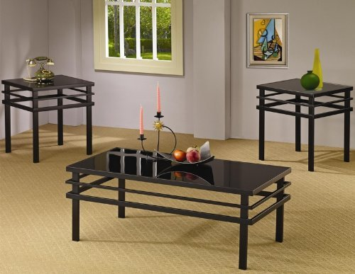 3pc-coffee-table-set-with-black-glass-top-in-black-metal-base-by-coaster-home-furnishings
