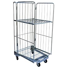 Vestil ROL Steel Wire Cage Cart