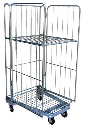 Vestil ROL Steel Wire Cage Cart
