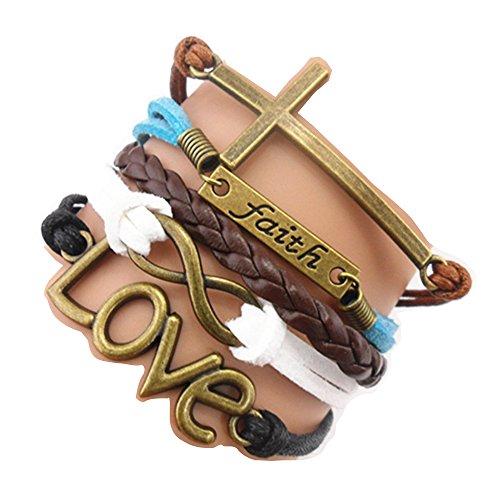 ACUNION™ Handmade Infinity Cross Faith Love Charm Friendship Gift Fashion Jewe…