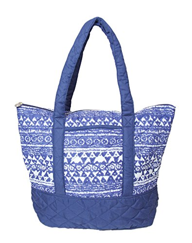 Carolina Sweethearts Moroccan Quilted Aztec Fashion Shoulder Tote W/ Zipper Closure (Quilted Zipper Tote compare prices)
