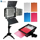 LimoStudio LED 160 Photographic Lighting Kit, Photo Studio Barndoor Light, Continuous Video Light, AGG1273