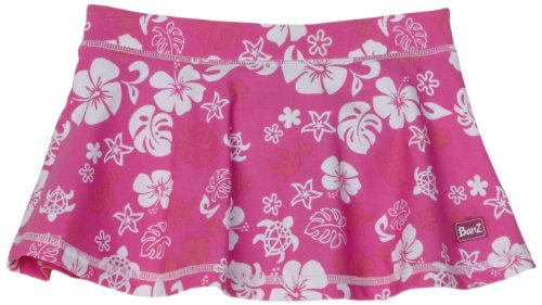 Baby Banz Swim Skirt with Bikini Pant Attached, Pink/White/Print, Size 4