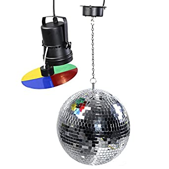 Giantex 12 Mirror Disco Ball Dj Stage Party Motor Led