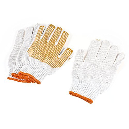 Dimart Industry Working Safety Elastic Cuff Rubber Coated Gloves 2 Pairs