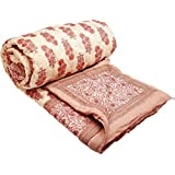 Shopnetix Double Bed Jaipuri Hand Block Print Traditional Desgin Jaipuri Razai - Quilt