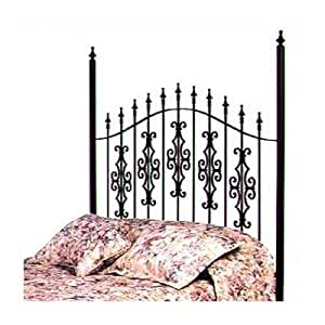 Gothic Gate Wrought Iron Headboard Metal Finish: Aged Iron, Size: Queen