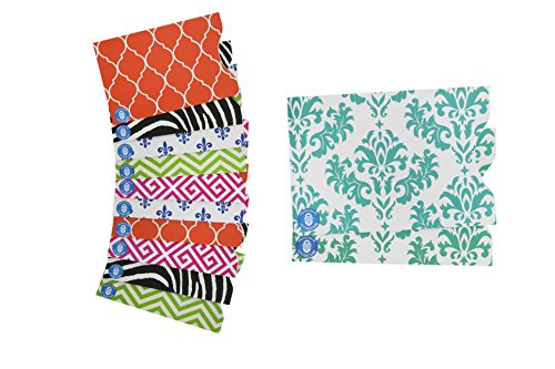 rfid-secure-blocking-designer-sleeves-set-with-10-credit-card-2-passport-protectors-assorted