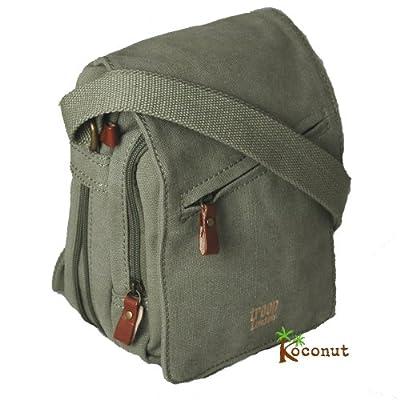 Troop Small Canvas Messenger Shoulder Bag, Khaki from K