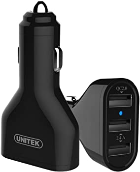 Unitek Y-P527 42W 3-Port USB Car Charger