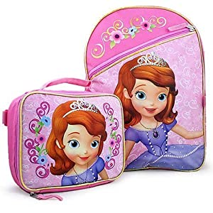 """Amazon.com: Disney Princess Sofia the First 16"""" Backpack with Lunch"""