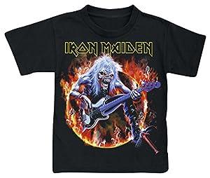 Iron Maiden Eddie Bass Camiseta de Niño/a Negro 116