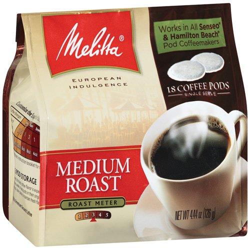 MELITTA Coffee Pods, Medium Roast, 4.41-Ounce (Pack of 3)