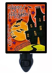 Halloween Night Light - Happy Halloween House - Haunted