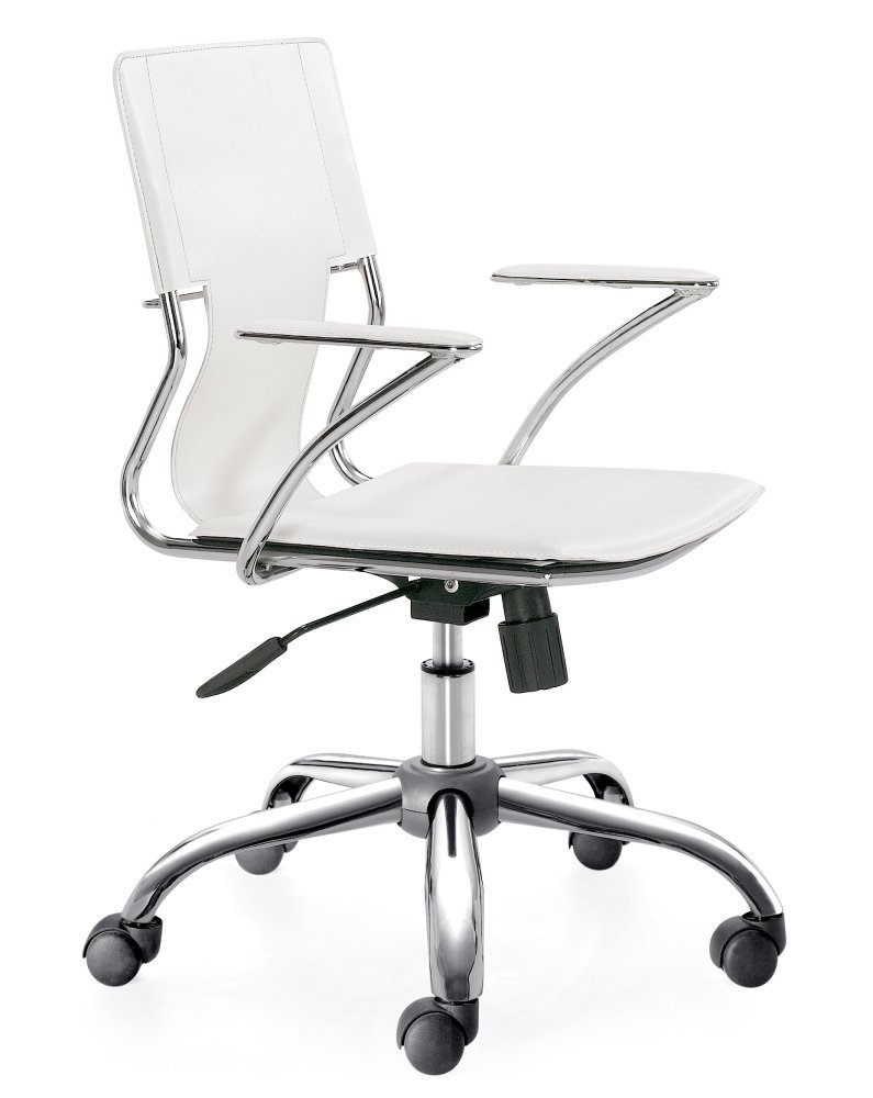 White Zuo Modern Office Chair