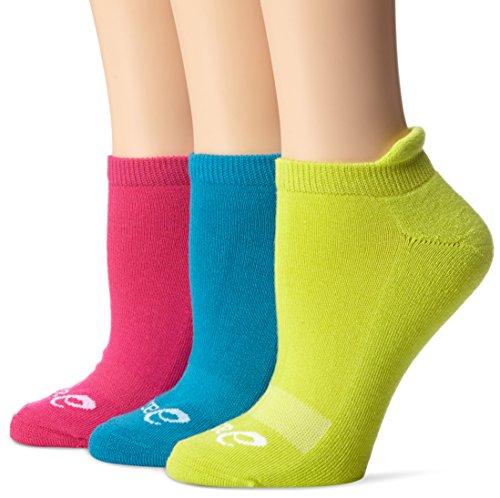 ASICS Women's Cushion Low Socks, Magenta Assorted, Large ,