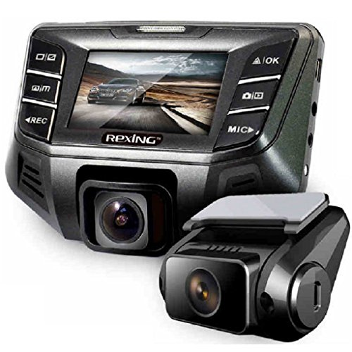 REXING S500 Dash Cam Pro 1080P Wide Angle Super Night View Mode, Stealth Design for Cars (32GB MicroSD Card Included)