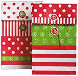 The Gift Wrap Company Holiday Treat Bags, Funtime Stripes (Pack Of 12)
