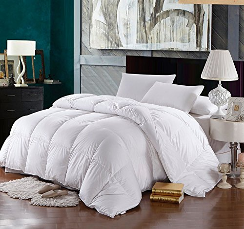 Queen Size Down-Comforter 500-Thread-Count Down Comforter 100 percent Cotton 500 TC - 750FP - 50Oz - Solid White (Hotel Royal New compare prices)