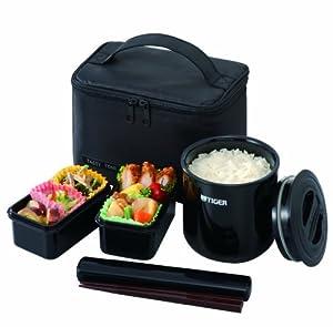 Amazon.com: Tiger LWY-E046 Thermal Lunch Box, Black