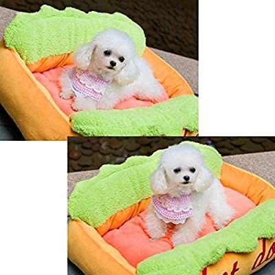 "Kisspet® Hot Dog Design Sofa Pet Bed with Removable Washable Pet Mat Dog House,24"" X 16"" X 8"""