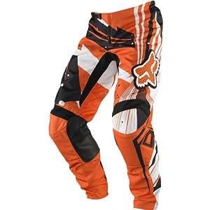 Fox Racing PeeWee 180 Undertow Youth Boys Motocross/Off-Road/Dirt Bike Motorcycle Pants - Orange / Size 6
