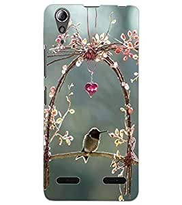 ColourCraft Lovely Bird Swing Design Back Case Cover for LENOVO A6000