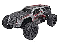 Redcat Racing Blackout XTE 1/10 Scale Electric Monster Truck with Waterproof Electronics, Silver/Red SUV